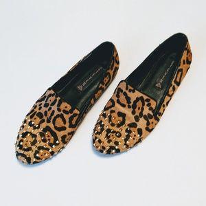 Steve Madden: Animal Print Calf Hair Stud Loafers